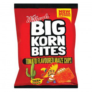Willards Big Korn Bites Tomato Flavour