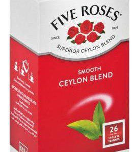 Five Roses Smooth Ceylon Blend Teabags 26