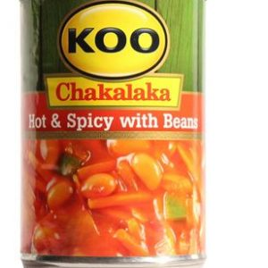 Koo Chakalaka Hot and Spicy with Beans 410g