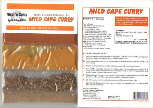 nice n spicy Mild Cape Curry
