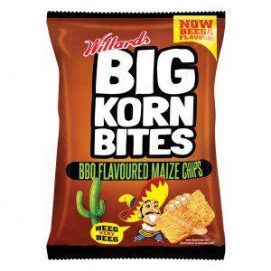 Willards Big Korn Bites BBQ Flavour